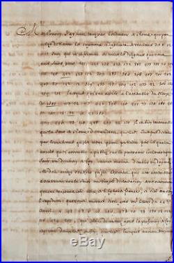 Passionnante lettre codée de Louis XIV, à son ambassadeur à Rome