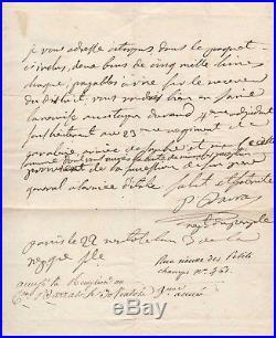 Paul Barras / Lettre Autographe (1795) / Directoire / Napoleon / Revolution