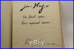 Paul Éluard / Jean Hugo En Avril 1944 Paris Respirait Encore Eo Bel Exemplaire