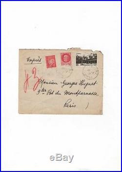 Paul Eluard / Lettre Autographe (1942) / À Georges Hugnet / Surréalisme
