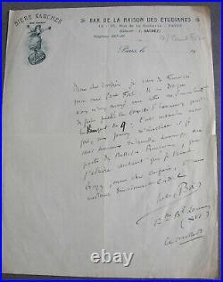 Paul FORT. Dossier, Lettres (Absinthe), Correspondances, Journaux, 1912