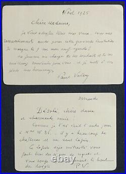Paul VALERY, 2 autographes