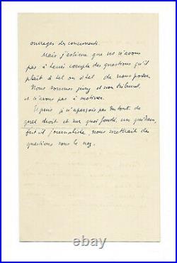 Paul VALÉRY / Lettre autographe signée / Poésie / La Pléiade