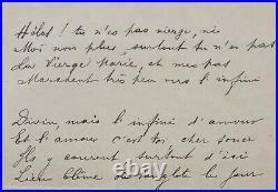 Paul VERLAINE Poème autographe extrait de Dans les Limbes (1892)