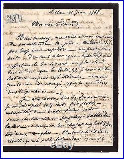 Paul Verlaine / Lettre Autographe (1868) / Fais-tu Des Vers Moi Rien! /