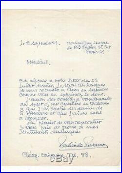 Paul-emile Pissarro / Lettre Autographe (1959) / Au Sujet De Faux Tableaux