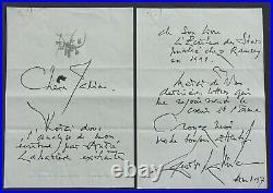 Peintre Georges MATHIEU autographe