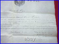 Pension De La Maison Du Roi, Datée De 1828