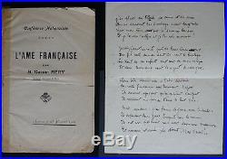 Personnalités liées à l'ACTION FRANCAISE & LIBRE PAROLE, lot de 15 autographes