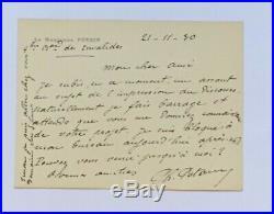 Philippe PETAIN Lettre autographe signée + enveloppe 1930 Letter signed