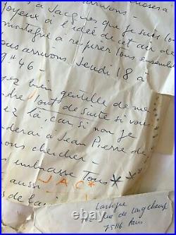 Photographe. Jacques Henry LARTIGUE. Lot de 8 correspondances années 70/80