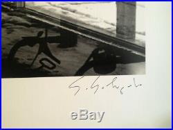 Photographe Sebastio Salgado Autographe Sur Affiche James A. Fox