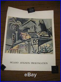 Picasso Avignon Prolongation 1973 / Affiche Originale Mourlot