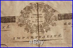 Pierre-François Percy Certificat autographe LAS datée 1802 Empire / Napoléon
