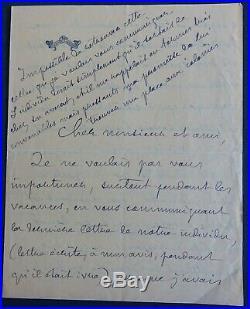 Pierre LOTI autographe / Belle lettre