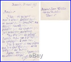 Pierre LOUYS Lettre autographe signée de Démission provoquée par J. M. De HEREDIA