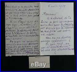 Pierre LOUYS autographe / Belle et véhémente lettre