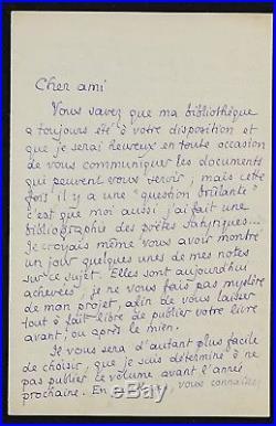 Pierre LOUYS autographe (longue lettre)