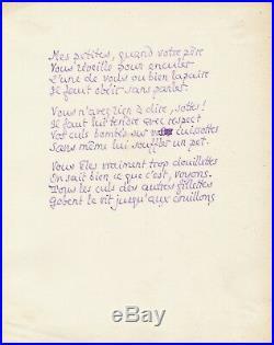 Pierre LOUYS autographe (poème licencieux pour adultes!)