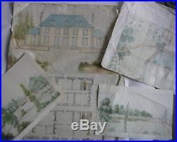 Plans Originaux et dessins dun Château de lAnjou. Charpentes. XIXème Siècle