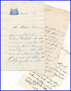 Politique lot 14 lettres autographes signées Charles Duclerc à Comtesse Beaumont