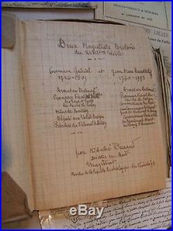Pontivy. Ruinet du Tailly. Projet + Manuscrit. Magistrats bretons du XVIIIe S
