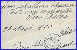 Précieuse et rare lettre de Léon Tolstoï