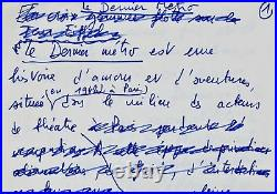 Précieux ensemble de manuscrits de François Truffaut pour Le Dernier Métro