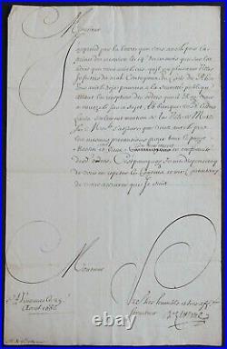 Premier Ministre de Louis XV Hugues de LIONNE autographe 1666