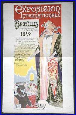 Privat Livemont. Chromilithographie. Exposition Internationale Bruxelles 1897