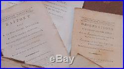 Proces de LOUIS XVI lot de 300 fascicules de 1792-1793 OPINION de 300 députés