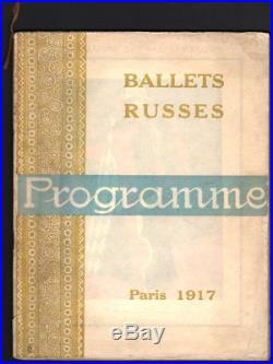 Programme Ballets Russes. Théâtre du Chatelet. 1917. Picasso Bakst Apollinaire