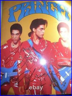Programme Tournée Mondiale 1989 avec Autographe Dédicace de PRINCE Concert Paris