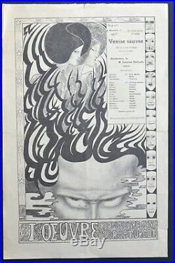 Programme-affiche. Théâtre de l'Oeuvre. Otway. Venise sauvée 1895. Jan Toorop