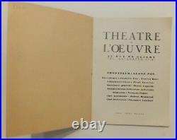 Programme pour le théâtre de lOeuvre couverture par Kees Van Dongen signature