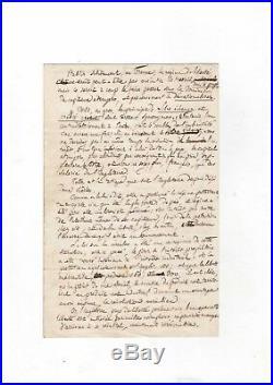 Proudhon / Lettre Autographe (1852) / Longue Lettre Sur Ses Théories Économiques