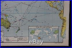 R193 Carte scolaire Vidal Lablache OCEANIE 21 Australie ocean pacifiqe Guinee