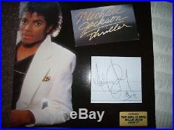 RARE Autographe ORIGINAL du Chanteur MICHAEL JACKSON Framed THRILLER