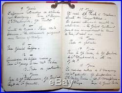 RARE CARNET de ROUTE AUTOGRAPHE d'HENRI ALBY MAJOR GÉNÉRAL DE L'ARMÉE 1917 1918