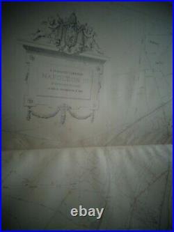 RARE GRAND ATLAS DES EGOUTS DE LA VILLE DE PARIS, année 1867