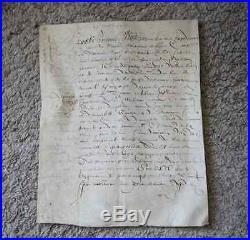 RARE et AUTHENTIQUE ANCIEN ACTE NOTARIE SUR PARCHEMIN daté 19 janvier 1595