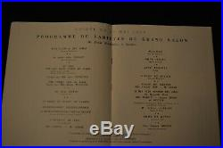 RARE et EXCEPTIONNEL PROGRAMME INAUGURATION PAQUEBOT NORMANDIE 23 MAI 1935