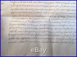 RARE parchemin sceau Philippe IV d'Espagne LILLE DOUAI ORCHIES dominicains XVIIe
