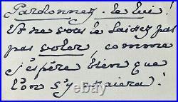ROBERT DE MONTESQUIOU FEZENSAC, 3 cartes manuscrites autographes signées