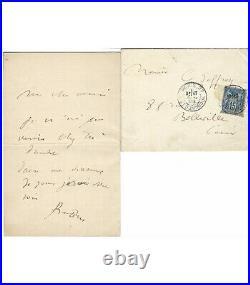 RODIN Auguste, sculpteur. Lettre autographe (G 5577)