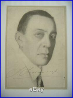 Rachmaninov Rachmaninoff (1873-1943) Autographe manuscrit ca 13 x 19 cm