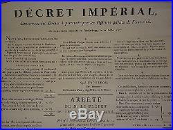 Rare Affiche Empire 1807 Koenigsberg Kaliningrad Russie Etat CIVIL Code Napoleon