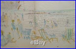 Rare Correspondance D'artiste + Dessin Adressee Au Peintre Maurice Genis (12)