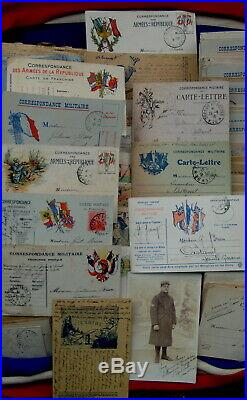 Rare Documents 14/18 Jean Brun De Castanet 82 Bien Lire Le Descriptif 220 Euros