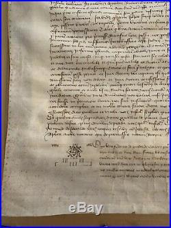 Rare Manuscrit Parchemin 1387 Carpentras Charles VI